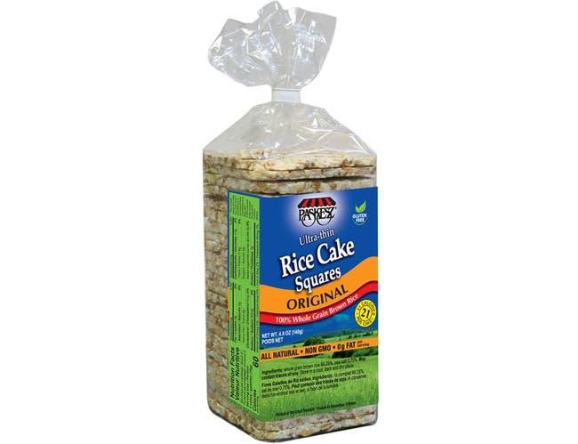 Paskesz Ultra Thin Plain Rice Cake Squares, 4.9 Ounce -- 12 per case