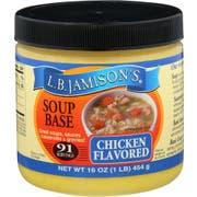 L.B. Jamison's Chicken Flavored Soup Base, 16 Ounce -- 6 per case