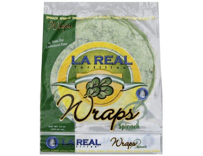 La Real Spinach Tortilla Wrap, 15 Ounce -- 12 per case