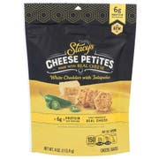 Stacys Cheese Petites White Cheddar with Jalapeno Cheese Snack, 4 Ounce -- 5 per case