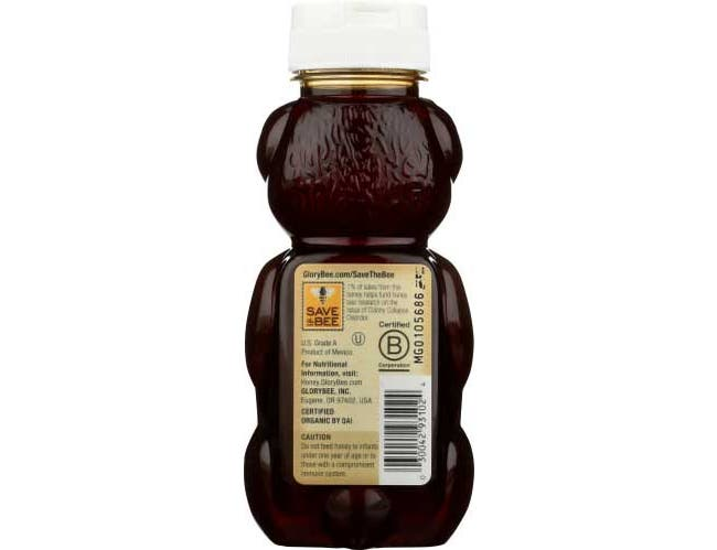 Glory Bee Organic Fair Trade Honey, 12 Ounce -- 6 per case