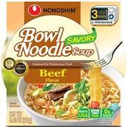 Nong Shim Instant Savory Beef Noodle Soup Bowl, 3.03 Ounce -- 12 per case