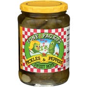 Tony Packos Sweet Hot Pickles and Peppers, 24 Ounce -- 6 per case