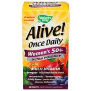 Natures Way Alive Once Daily Womens 50 Plus Ultra Potency Multi Vitamin Tablet - 60 count per pack -- 1 each