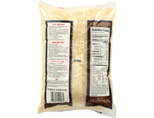 Andys Yellow Fish Breading, 5 Pound -- 6 per case