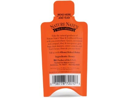 Nature Nate's Honey Packet, 20 count per pack -- 6 per case