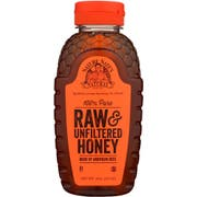Nature Nate's 100 Percent Pure Raw and Unfiltered Honey, 16 Ounce Bottle -- 6 per case