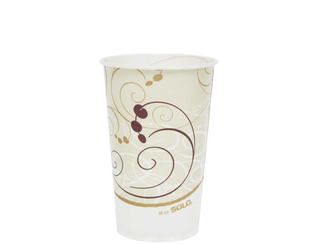 Solo Symphony Design Big Drink Waxed Paper Cold Cup, 16 Ounce -- 1000 per case.