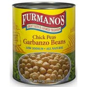 Furmanos Low Sodium All Natural Extra Fancy Chick Peas, 110 Ounce -- 6 per case