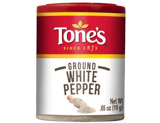 Tones Ground White Pepper, 0.65 Ounce -- 6 per case