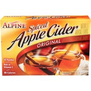 Alpine Original Apple Spiced Cider Flavor Drink Mix, 10 count per pack -- 12 per case