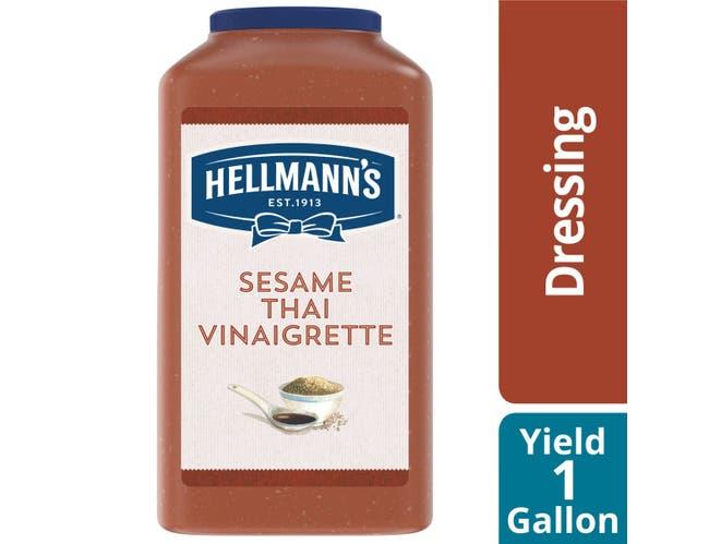 Hellmann's Sesame Thai Vinaigrette Salad Dressing Jug, 1 gallon -- 4 per case