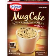 Dr Oetker Mug Cake Vanilla and Dark Chocolate Bits Instant Cake Mix, 2.6 Ounce -- 12 per case
