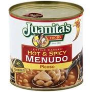 Juanitas Hot and Spicy Menudo, 25 Ounce -- 12 per case