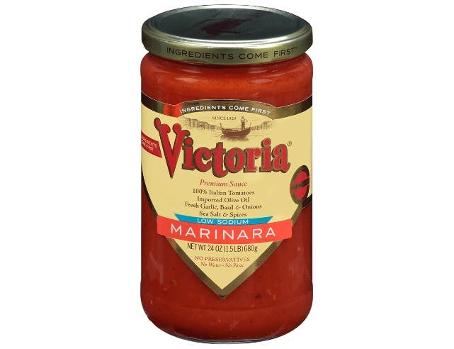 Victoria Low Sodium Marinara Sauce, 24 Ounce -- 6 per case