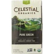 Celestial Seasonings Organic Pure Green Tea Bag, 20 count per pack -- 6 per case.