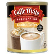 Caffe D Vita English Toffee Instant Cappuccino, 16 Ounce Canister -- 6 per case