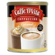 Caffe D Vita Caramel Instant Cappuccino, 16 Ounce Canister -- 6 per case