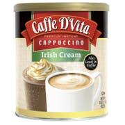 Caffe D Vita Irish Cream Instant Cappuccino, 16 Ounce Canister -- 6 per case