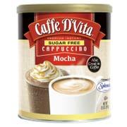 Caffe D Vita Sugar Free Mocha Instant Cappuccino, 8.5 Ounce Canister -- 6 per case