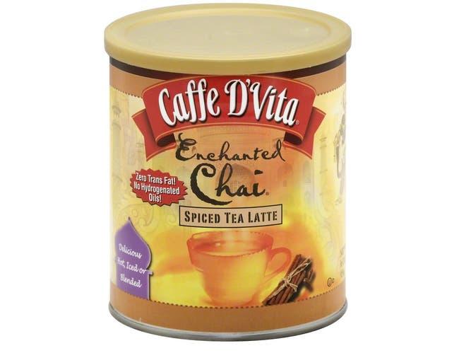 Caffe D Vita Enchanted Chai Spiced Tea Latte, 16 Ounce -- 6 per case