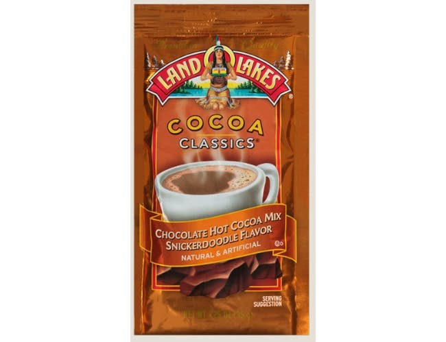 Land O Lakes Cocoa Classics Snickerdoodle and Chocolate Hot Cocoa Mix, 1.25 Ounce -- 12 per case