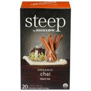 Steep by Bigelow Organic Chai Black Tea - 20 tea bags per pack -- 6 packs per case
