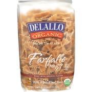 Delallo Organic Whole Wheat Farfalle Pasta, 16 Ounce -- 16 per case