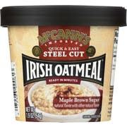 McCanns Maple Brown Sugar Instant Irish Oatmeal Cup, 1.9 Ounce -- 12 per case
