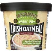 McCanns Apple Cinnamon Instant Irish Oatmeal Cup, 1.9 Ounce -- 12 per case