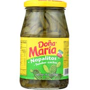Dona Maria Nopalitos, 15 Ounce Glass -- 12 per case