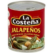 La Costena Green Pickled Whole Jalapeno Peppers, 26 Ounce -- 12 per case