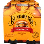 Bundaberg Ginger Beer Soda, 4 count per pack -- 6 per case