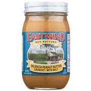 East Wind Crunchy No Salt Natural Peanut Butter, 16 Ounce -- 6 per case