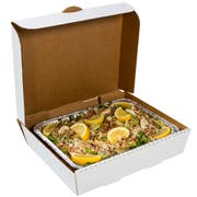 Royal White Half Pan Corrugated Catering Box, 13 x 10 7/8 x 3 inch -- 50 per case.