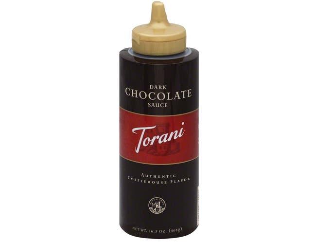 Torani Dark Chocolate Sauce, 16.5 Ounce Squeeze Bottle -- 4 per case