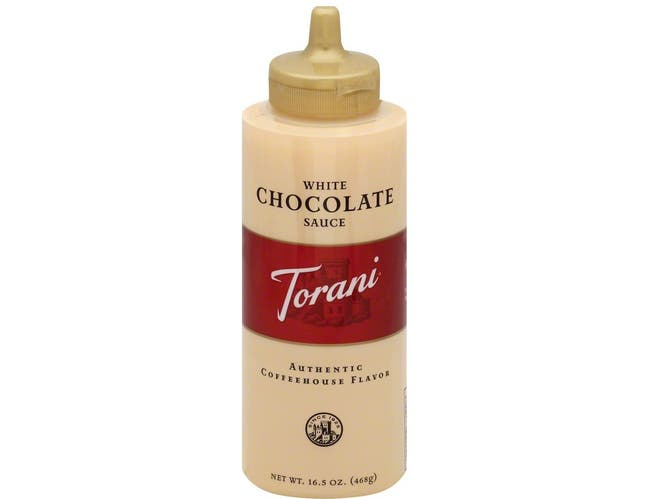 Torani White Chocolate Sauce, 16.5 Ounce Squeeze Bottle -- 4 per case