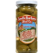 Santa Barbara Garlic and Jalapeno Double Stuffed Olives, 5 Ounce -- 6 per case