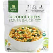 Simply Organic Coconut Curry Simmer Sauce, 6 Ounce -- 6 per case