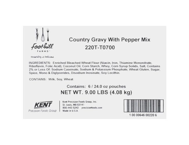 Country Gravy Mix With Pepper, 24 Ounce -- 6 Case