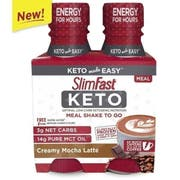SlimFast Keto To Go Creamy Mocha Latte Meal Shake Shipper, 11 Fluid Ounce - 4 count per pack -- 3 packs per case