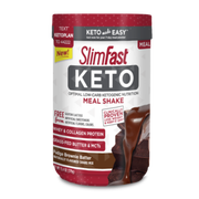 SlimFast Keto Fudge Brownie Batter Meal Replacement Powder, 13.4 Ounce -- 2 per case.