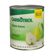 Carbotrol Halves Pear 6 Case 10 Can