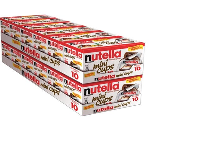 Nutella and Go Hazelnut Spread, 5.2 Ounce - 10 cups per pack -- 12 packs per case.