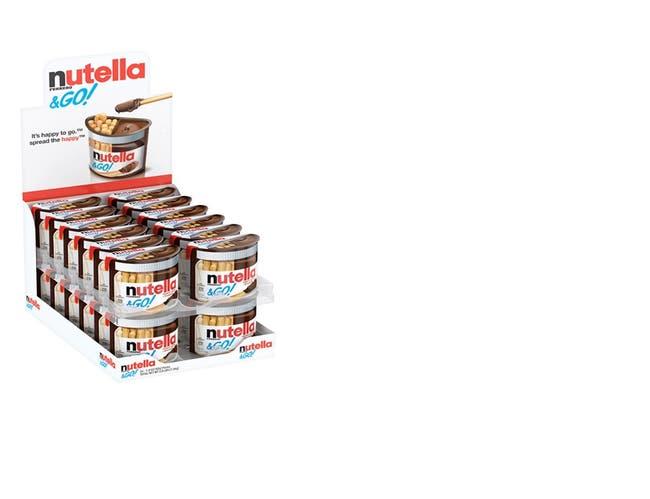 Nutella Original Hazelnut Spread Plus Breadsticks, 1.8 Ounce -- 24 per case.
