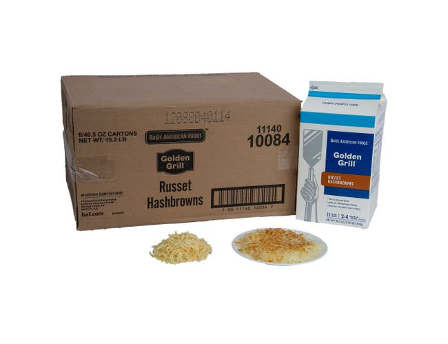 Basic American Foods Golden Grill Russet Hashbrowns, 40.5 ounce -- 6 per case