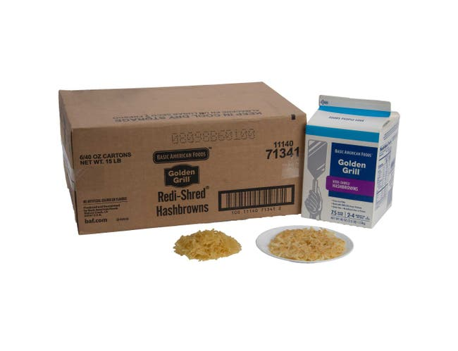 Basic American Foods Golden Grill Redishred Hashbrown, 2.5 Pound -- 6 per case