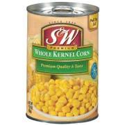 S and W Premium Whole Kernel Corn, 15.25 Ounce -- 24 per case.
