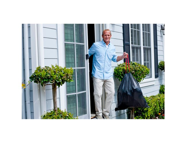 Clorox Glad Outdoor Drawstrings Trash Bag, 30 Gallon - 15 per pack -- 12 packs per case.
