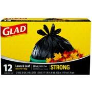 Glad Quick Tie Lawn and Leaf Trash Bag, 39 Gallon - 12 per pack -- 12 packs per case.